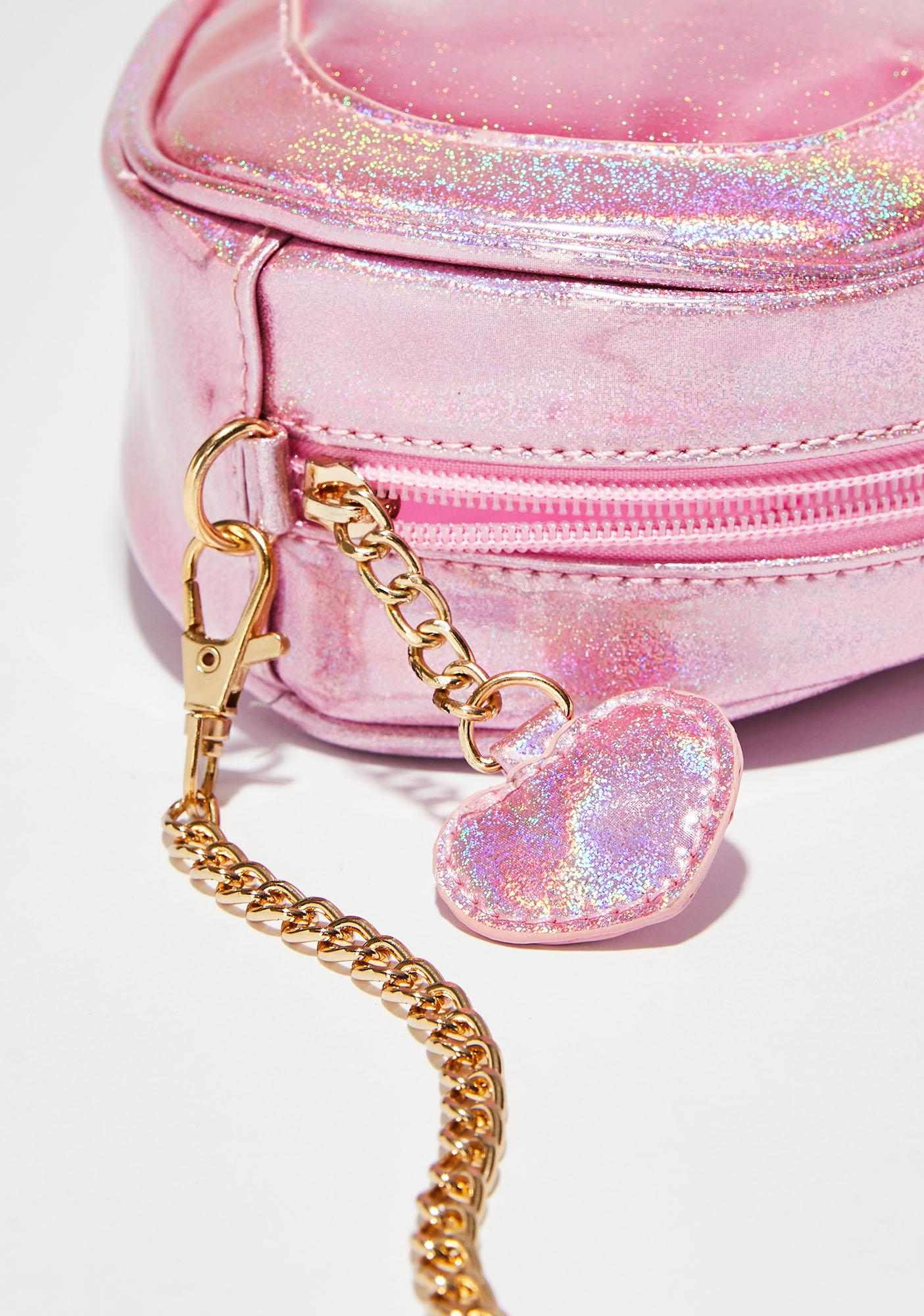 Holo Heart Holographic Bag