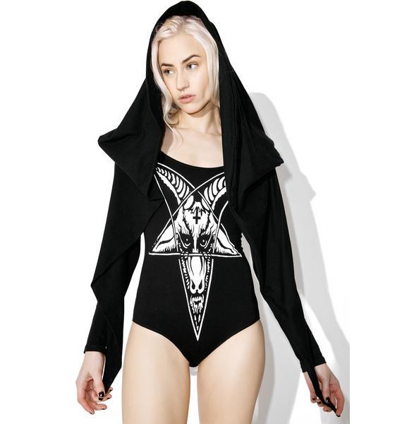 Hazmat Design Pagan Winter Hooded Bodysuit