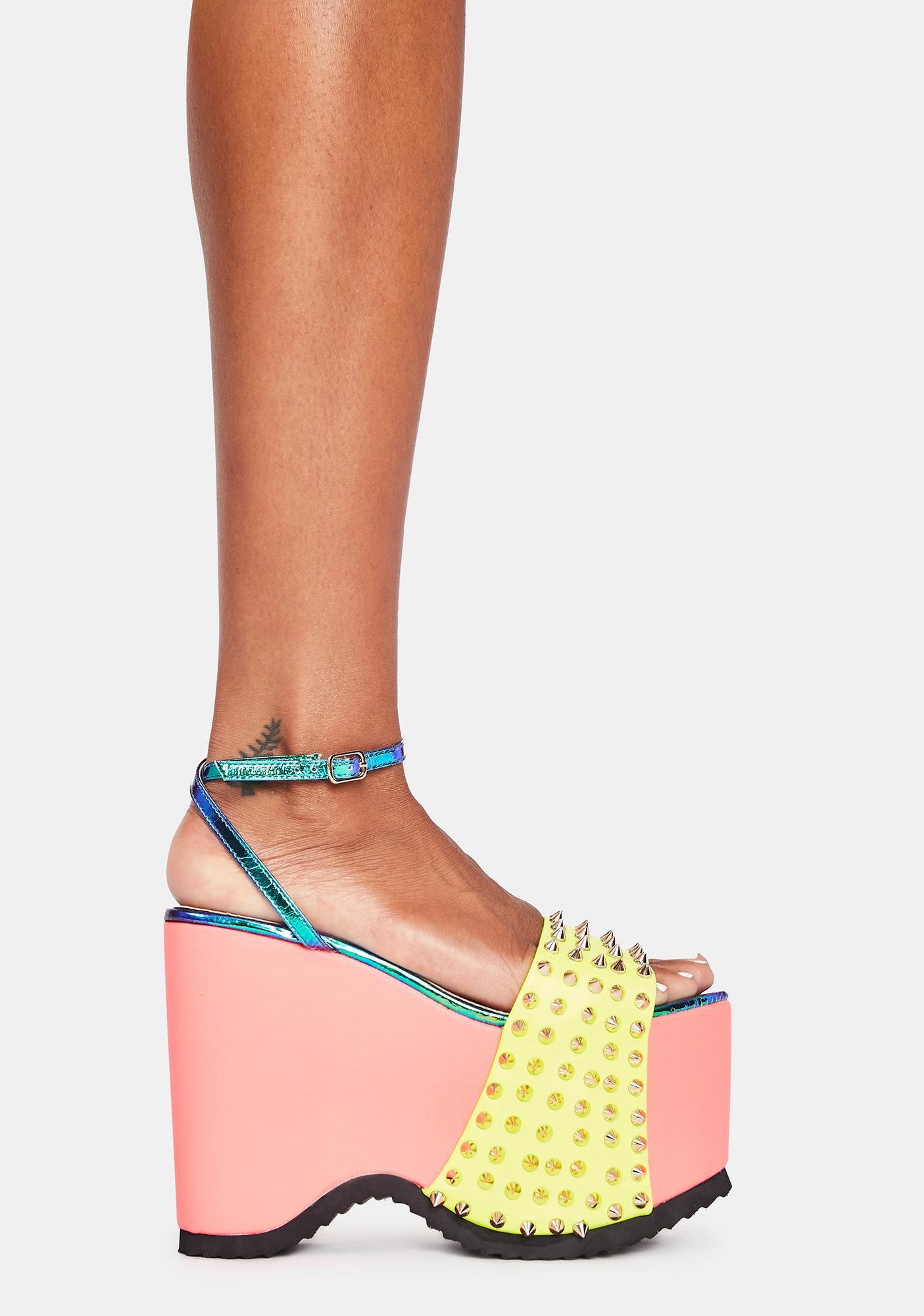 Lemon Drop by Privileged Areal Platform Heels