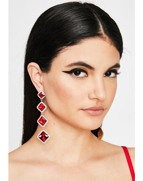 Hottie You're Invited Rhinestone Earrings