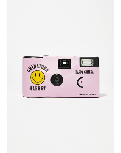 Pink Smiley Disposable Camera
