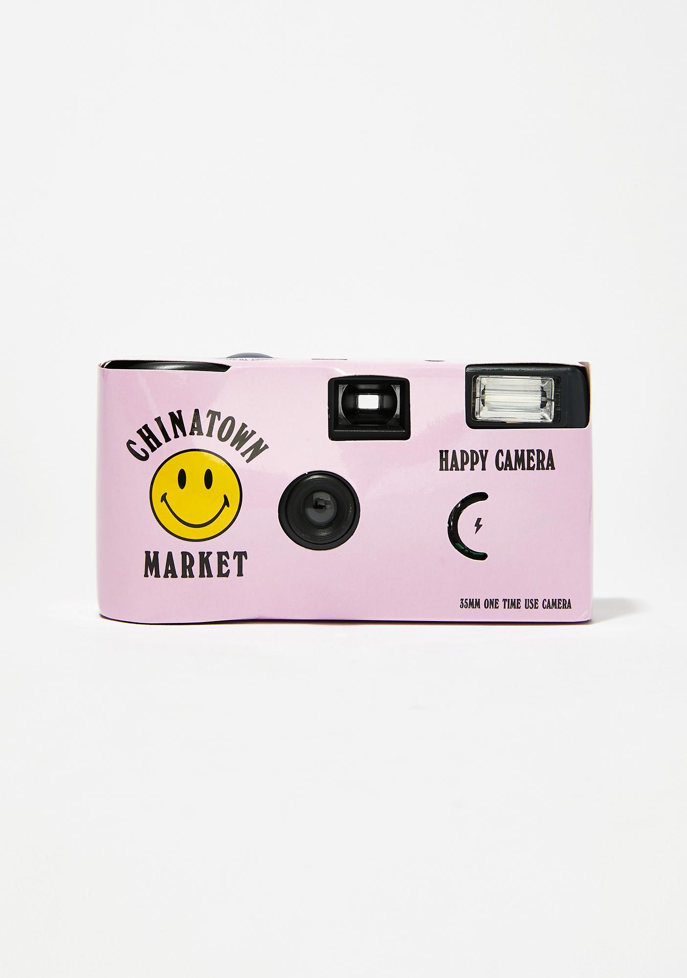 CHINATOWN MARKET Pink Smiley Disposable Camera