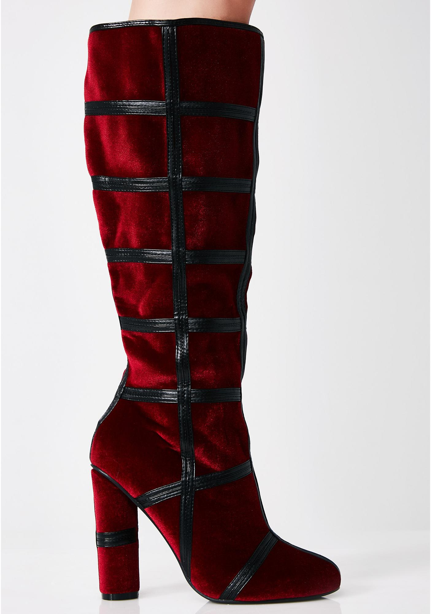 Venom Potion Knee High Boots