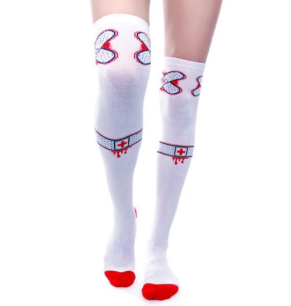 Sourpuss Clothing Ouch Knee Socks