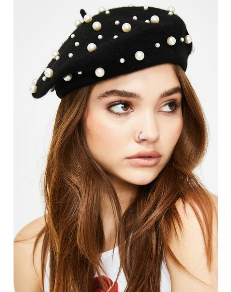 School Of Sass Pearl Beret