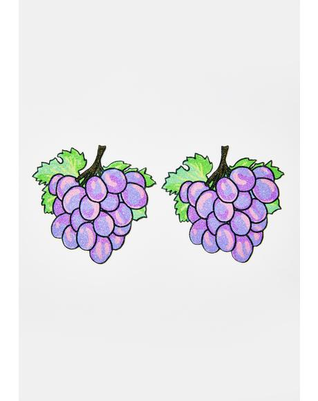 Grape Glitter Pasties