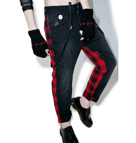 Happiness Plaid Punk Pants