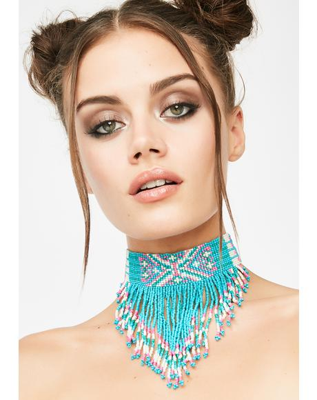 Electric Desert Beaded Choker