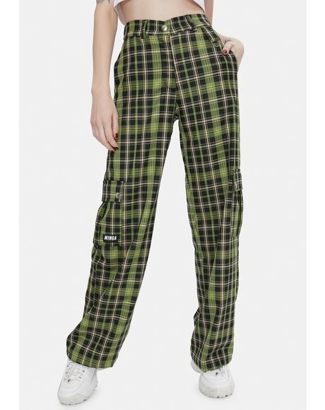 Ashley Plaid Utility Trousers
