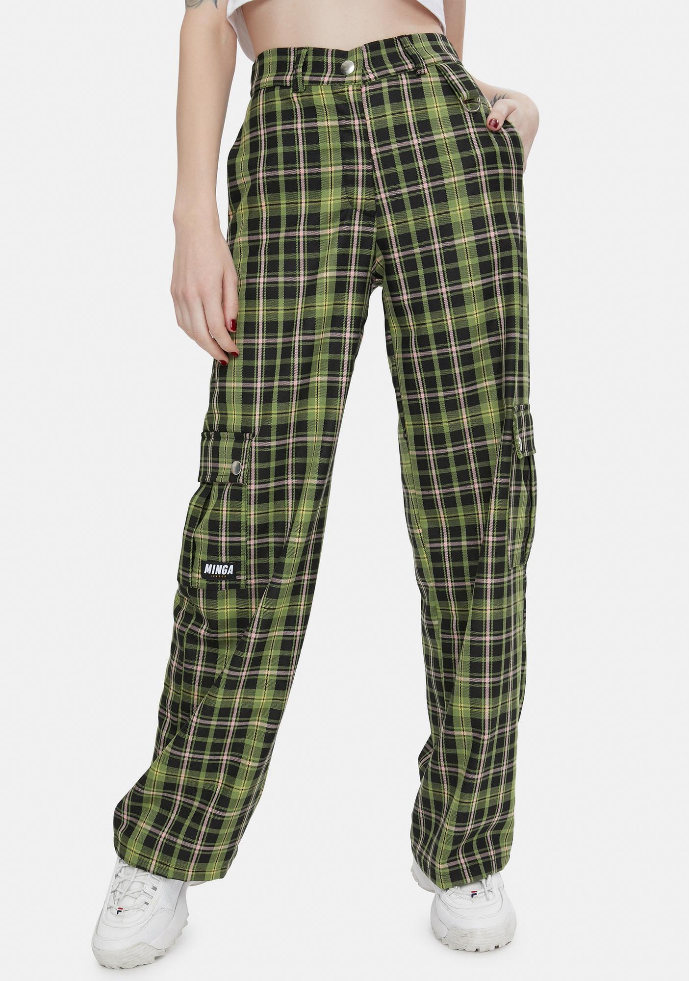 Minga Ashley Plaid Utility Trousers