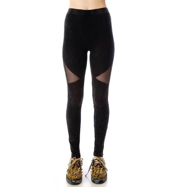 Hot Mesh Side Net Leggings