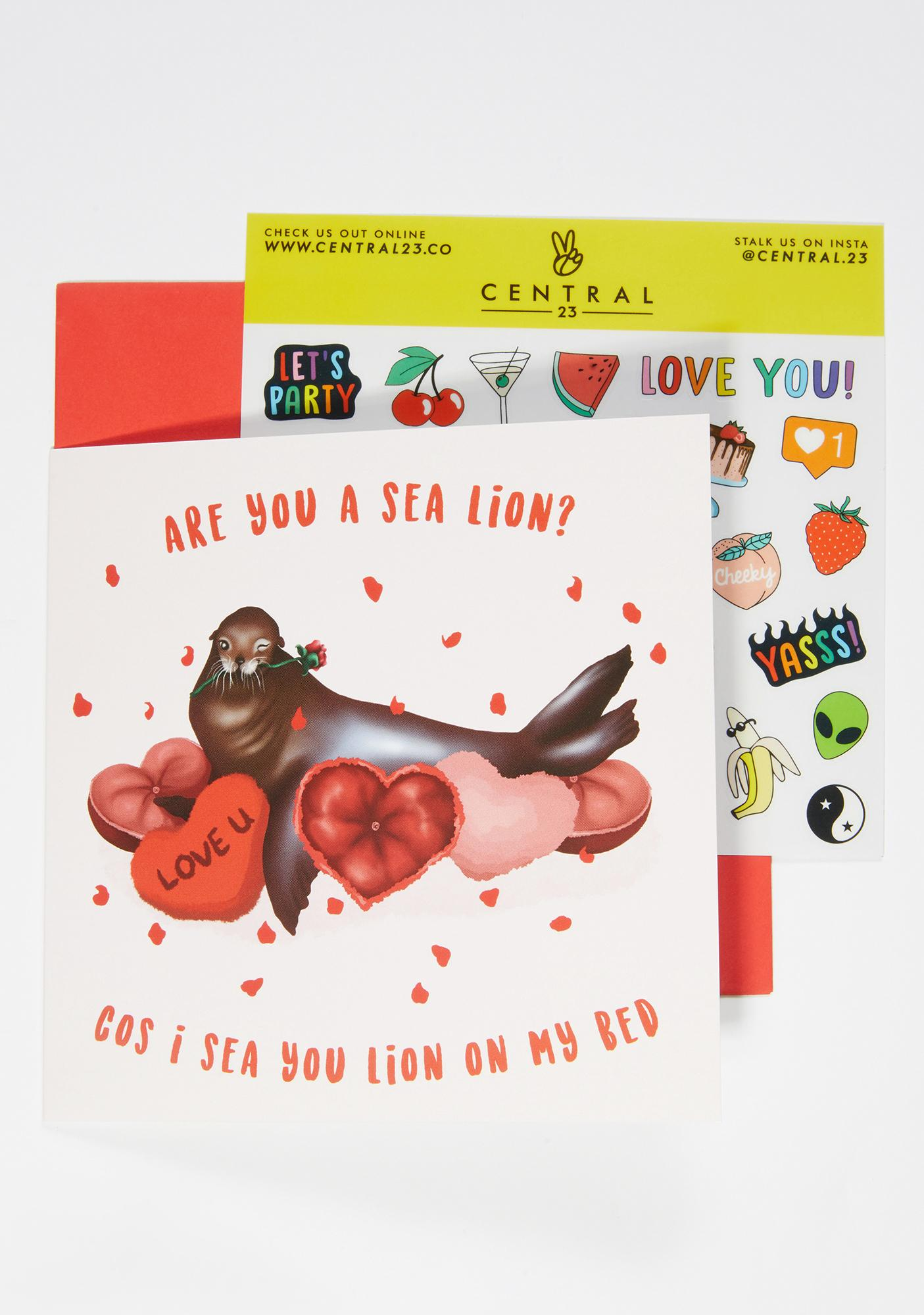 Central 23 Are You A Sea Lion Card