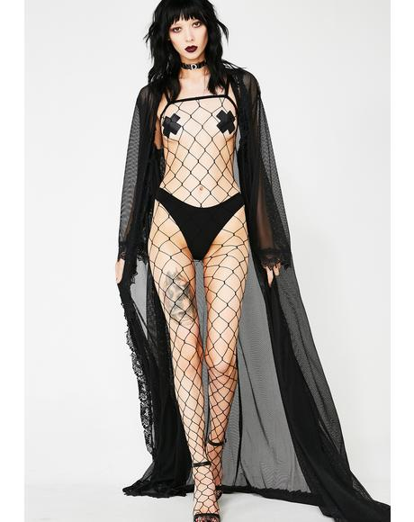 Midnight Diamond Life Body Stocking