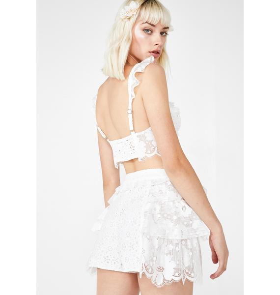 For Love & Lemons Las Palmas Lace Shorts