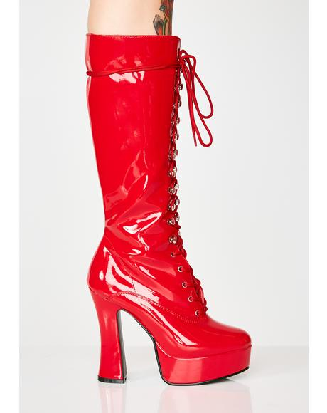 Candy Hundreds Only Exotica Platform Boots