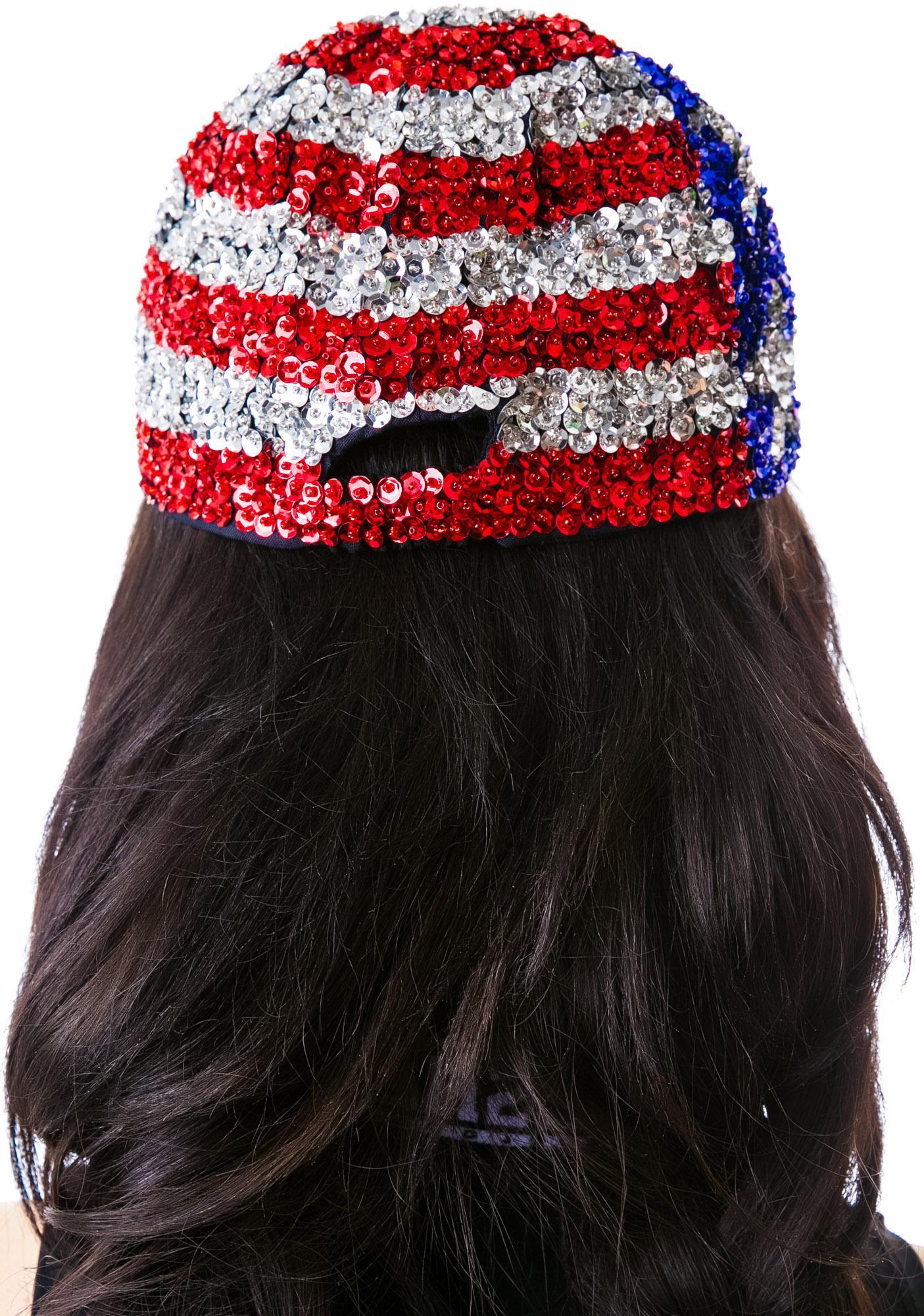 ... American Flag X Sequin Cap ba3a6a4cdb5