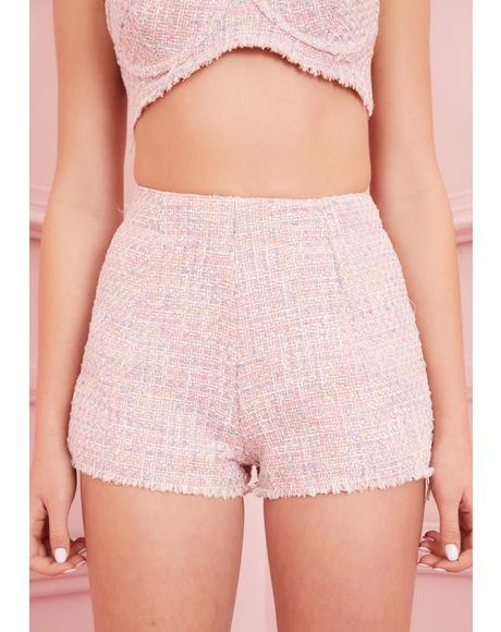 Posh Gossip Tweed Shorts