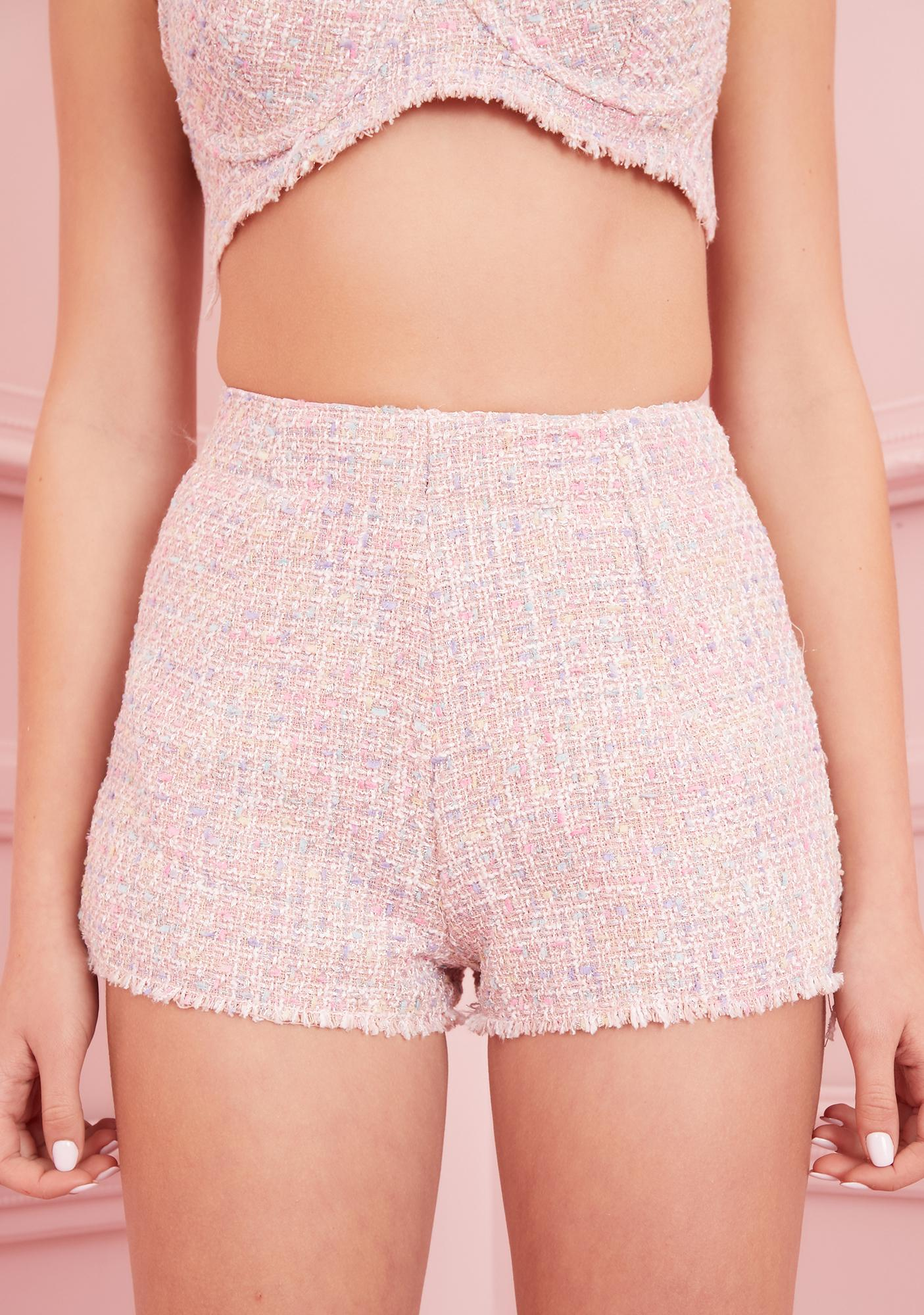 Sugar Thrillz Posh Gossip Tweed Shorts