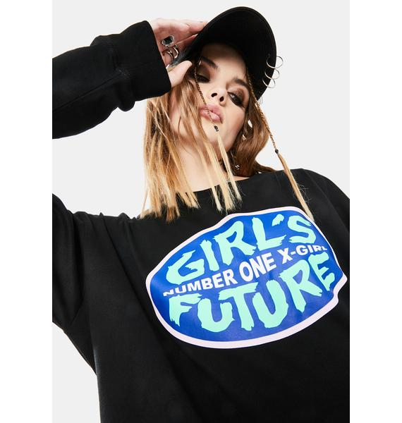 x-Girl No. 1 Girl's Future Graphic Tee