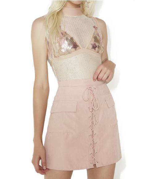 Sassy Sister Lace-Up Skirt