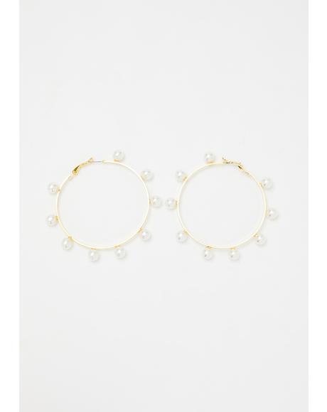 Pearl Jamz Hoop Earrings