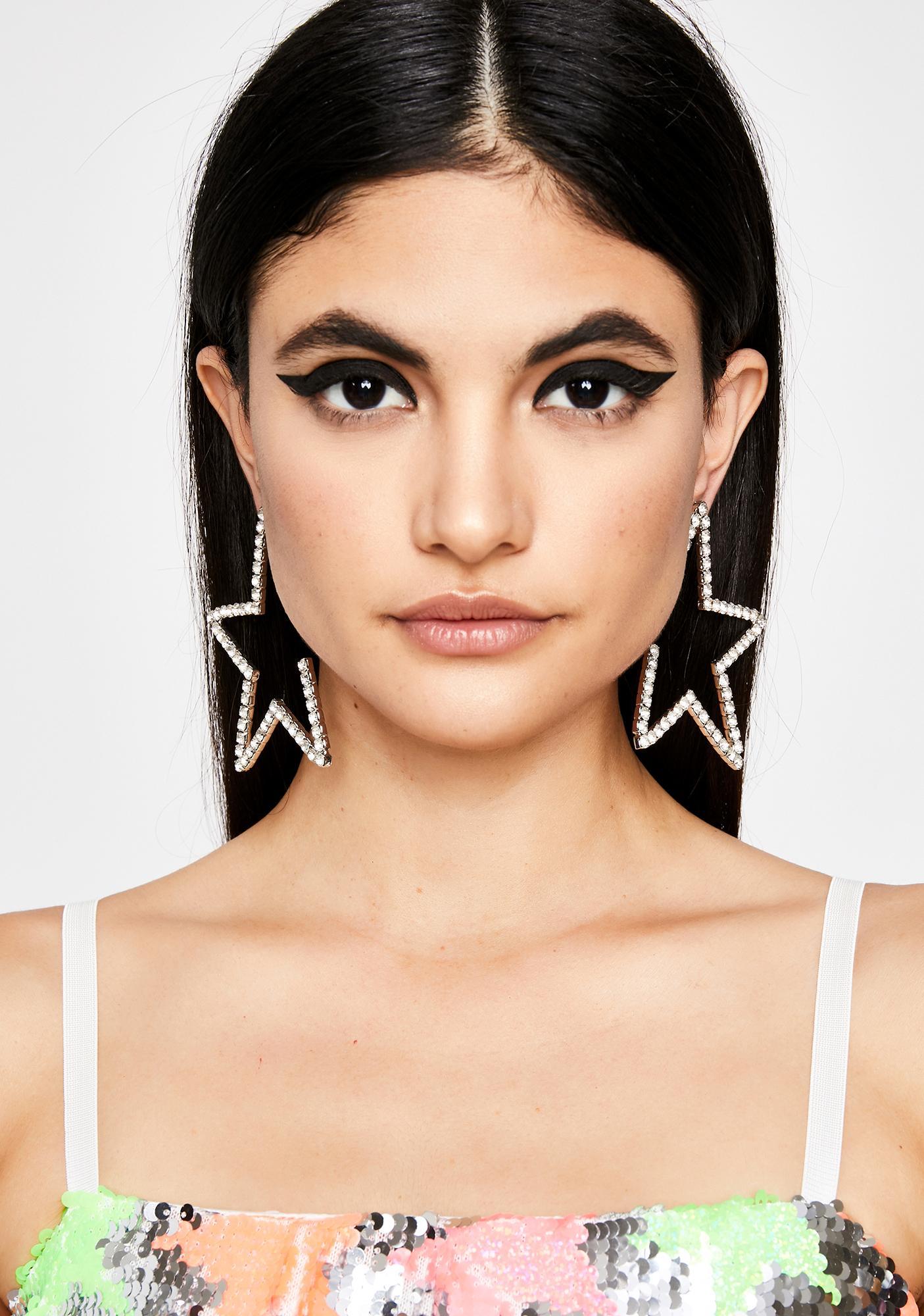 Stealin' The Spotlight Rhinestone Earrings