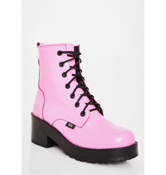 ROC Boots Australia Bubblegum Chisel Boots