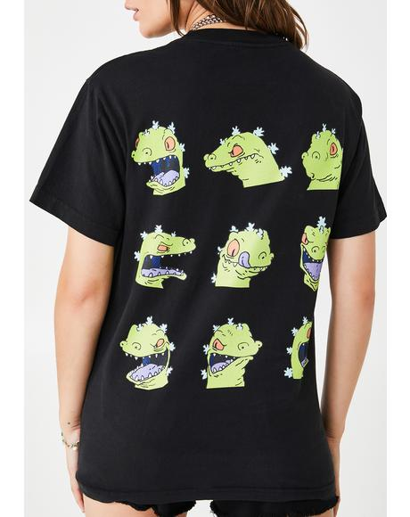 Rugrats Reptar Faces Graphic Tee