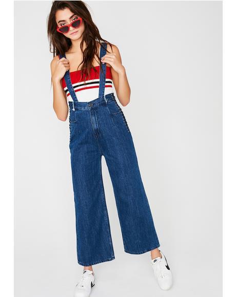 Held Up Suspender Jeans