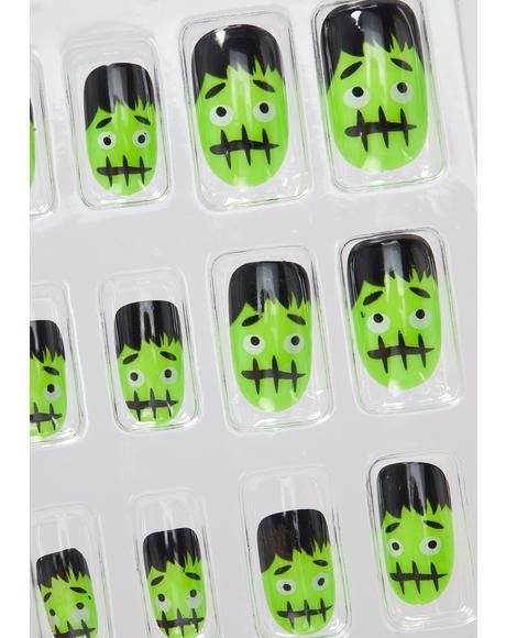 Freaky Frankenstein Nail Decals