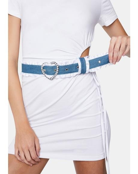 All My Lovin' Denim Ruffle Belt