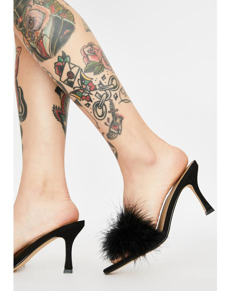 Yes Darling Marabou Heels