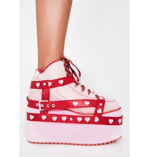Y.R.U. Qozmo Heart Platform Sneakers