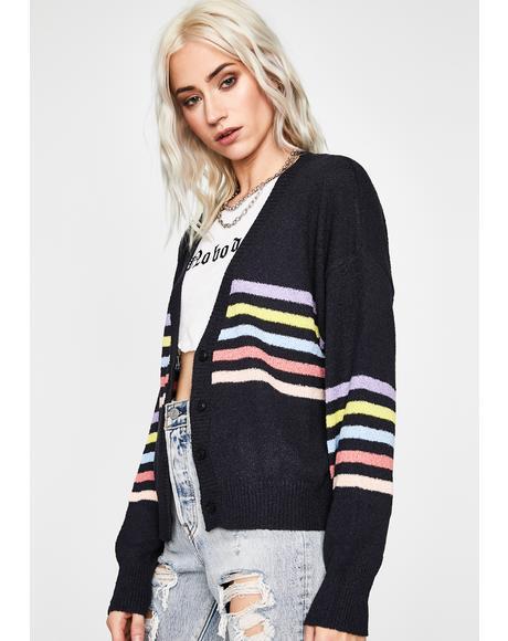 Pastel Paradise Stripe Cardigan