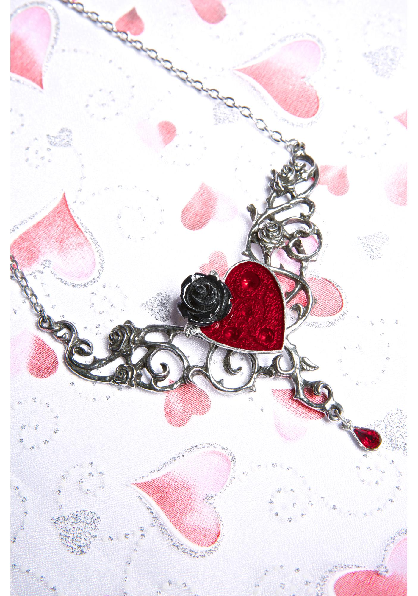 The Blood Rose Heart Necklace
