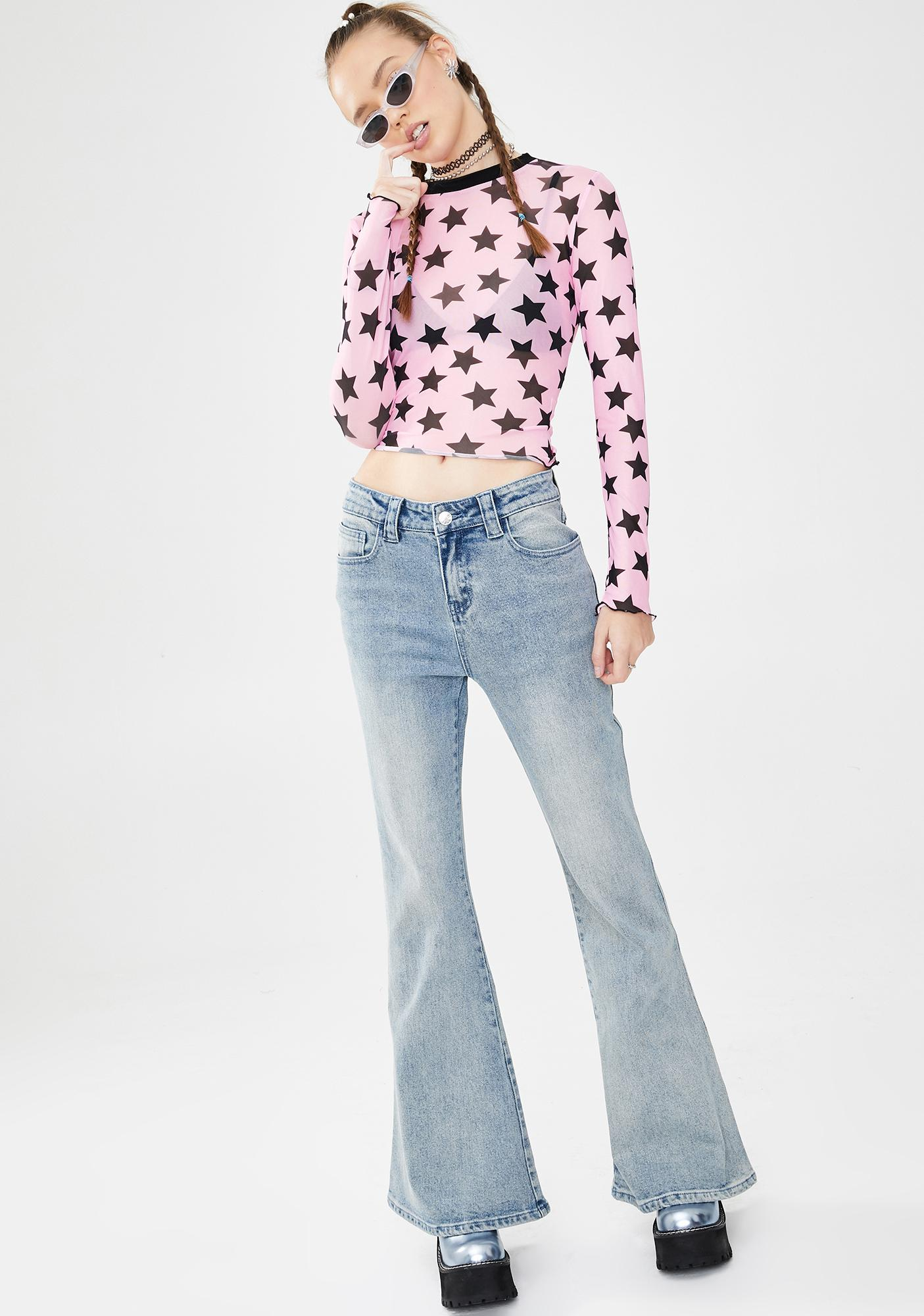 dELiA*s by Dolls Kill Moment Like This Mesh Top