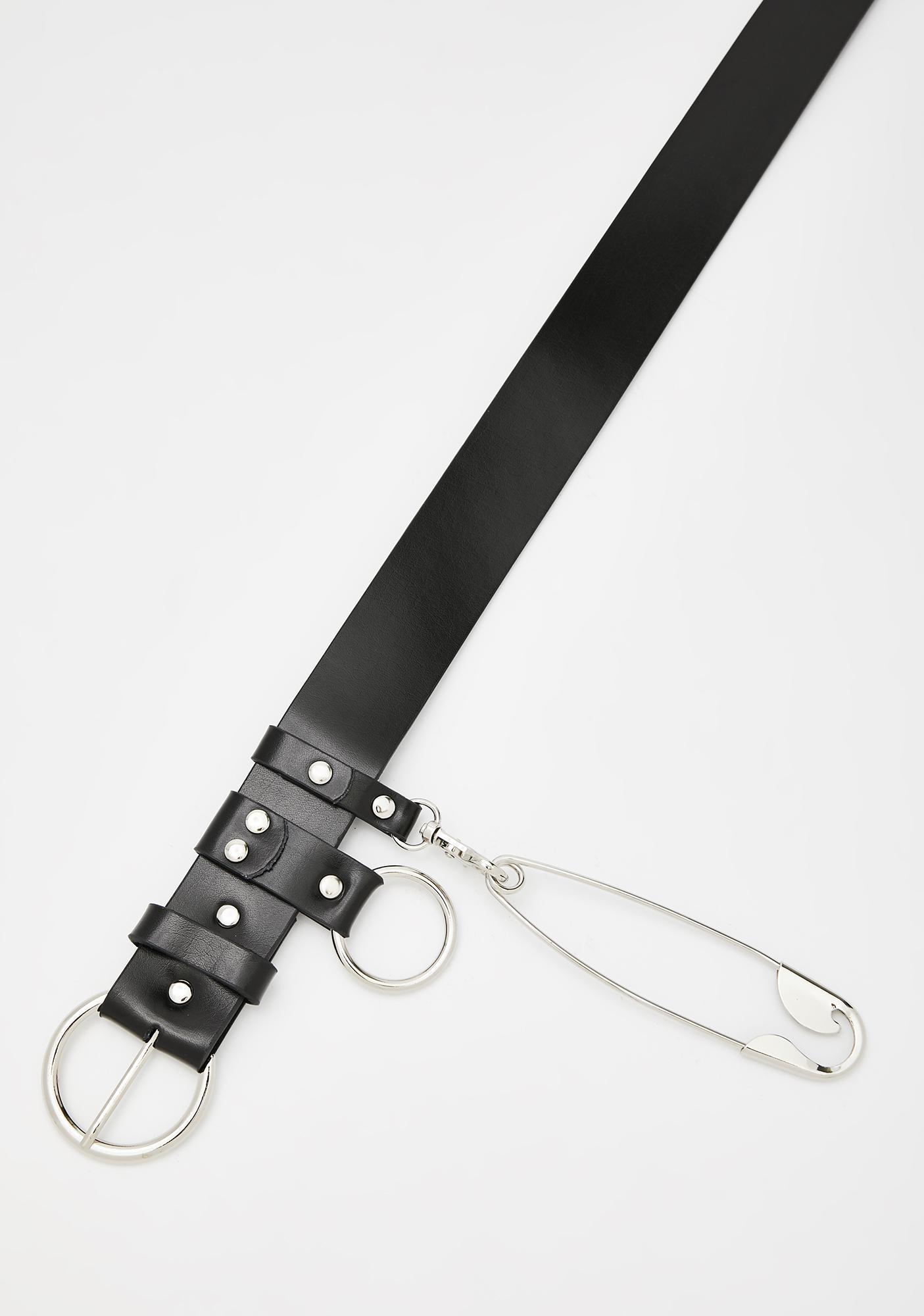 Pink /& Black  Large Garter Belt 27-35 inches