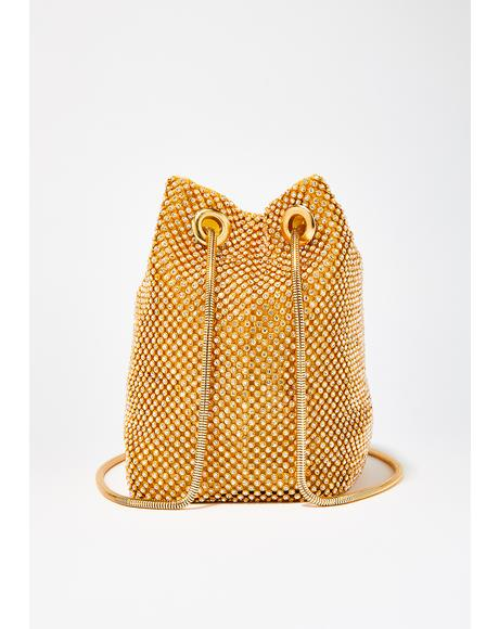 Golden Bling Empress Bucket Bag