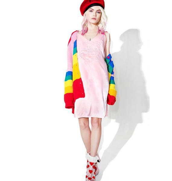Lazy Oaf Dream On Satin Cami Dress