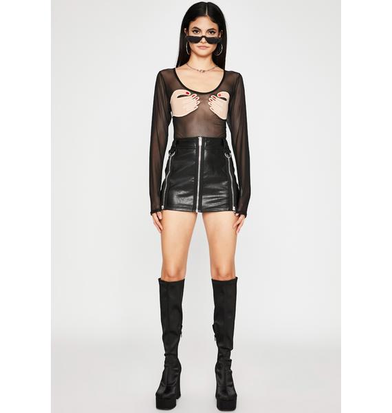 Dark Extra Support Sheer Bodysuit