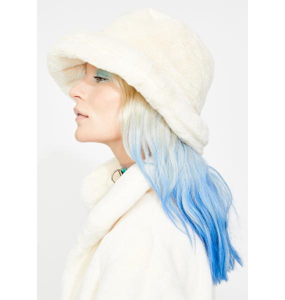 Icy Heaven Faux Fur Bucket Hat