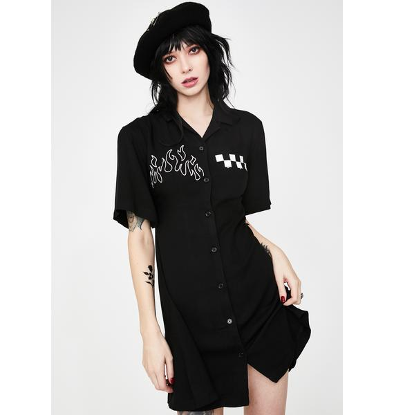 Disturbia Out To Lunch Shirt Dress