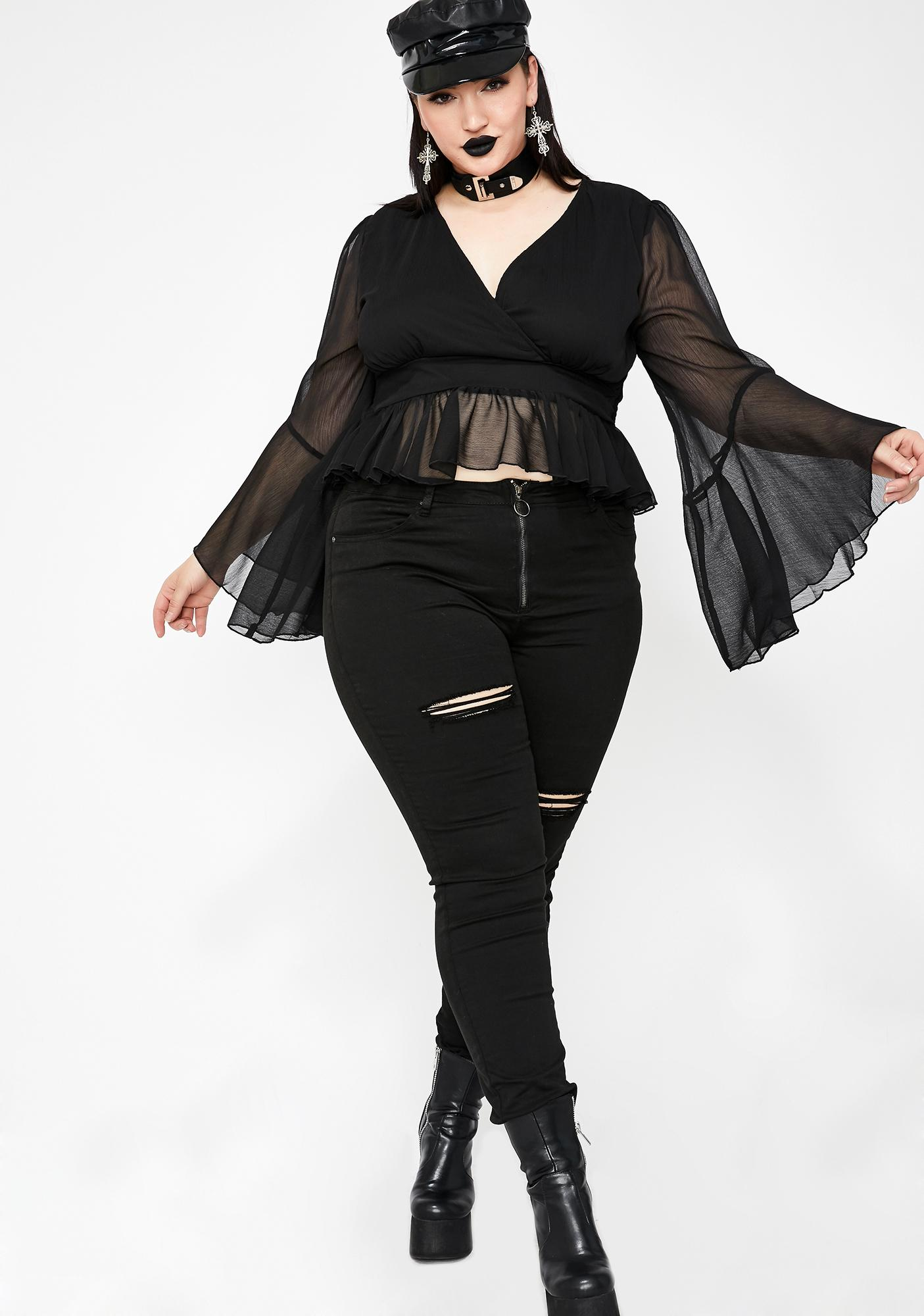 Spell Bound Babe Bell Sleeve Top