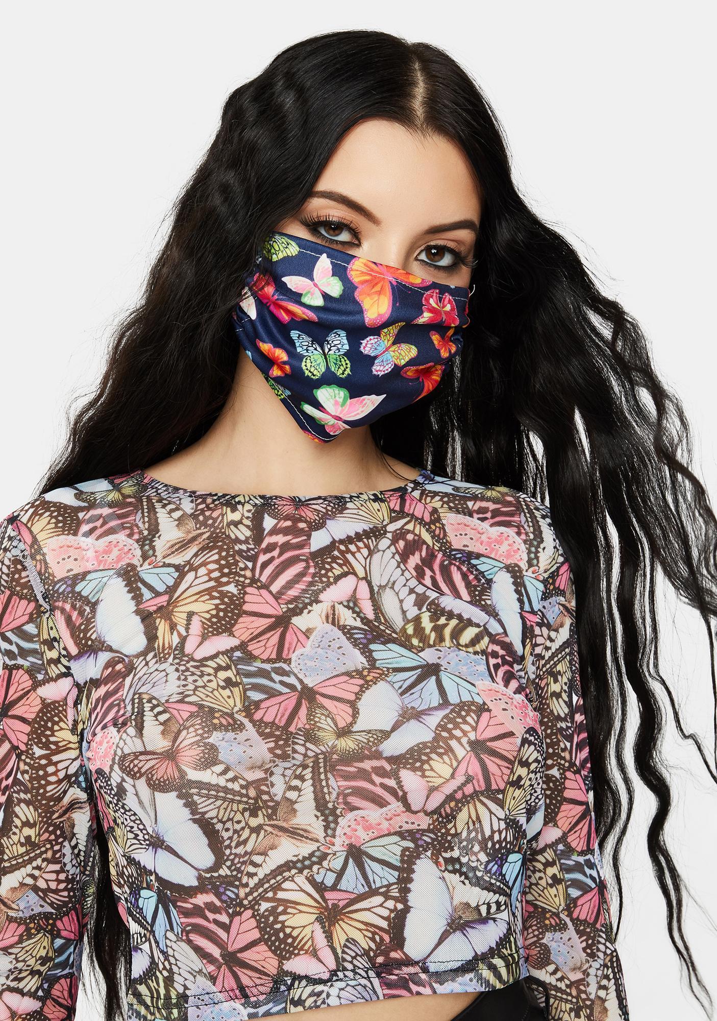 Butterfly Hottie Face Mask