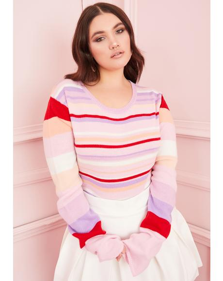 Miss Sadie Hawkins Striped Sweater
