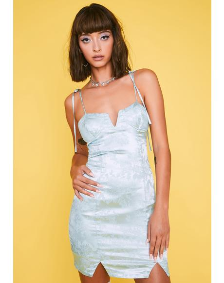 Level Headed Heiress Satin Dress