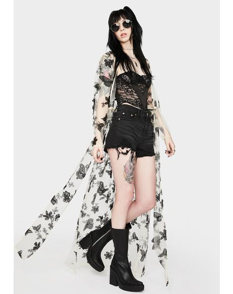 Haunted Meadows Butterfly Robe