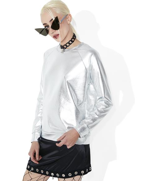 Neu Planet Metallic Long Sleeve Tee
