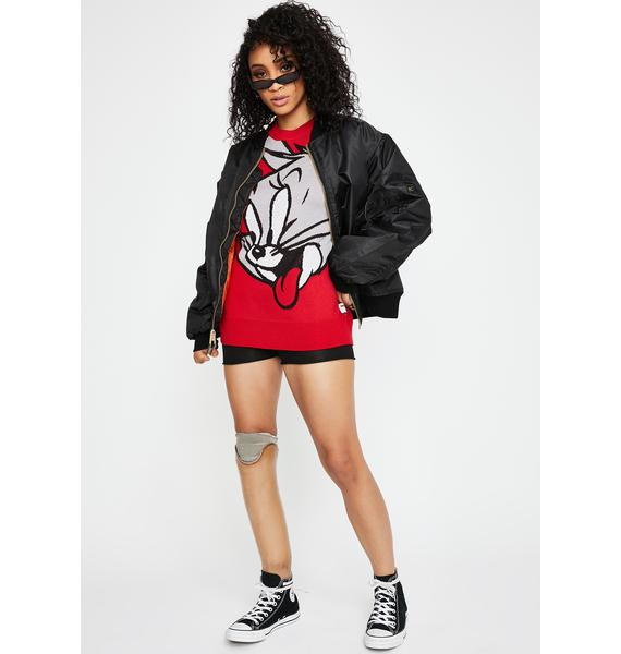 Joyrich Red Tom N' Jerry Pullover Sweatshirt