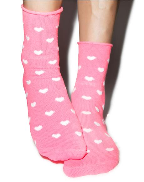 Head Over Heels Fleece Socks